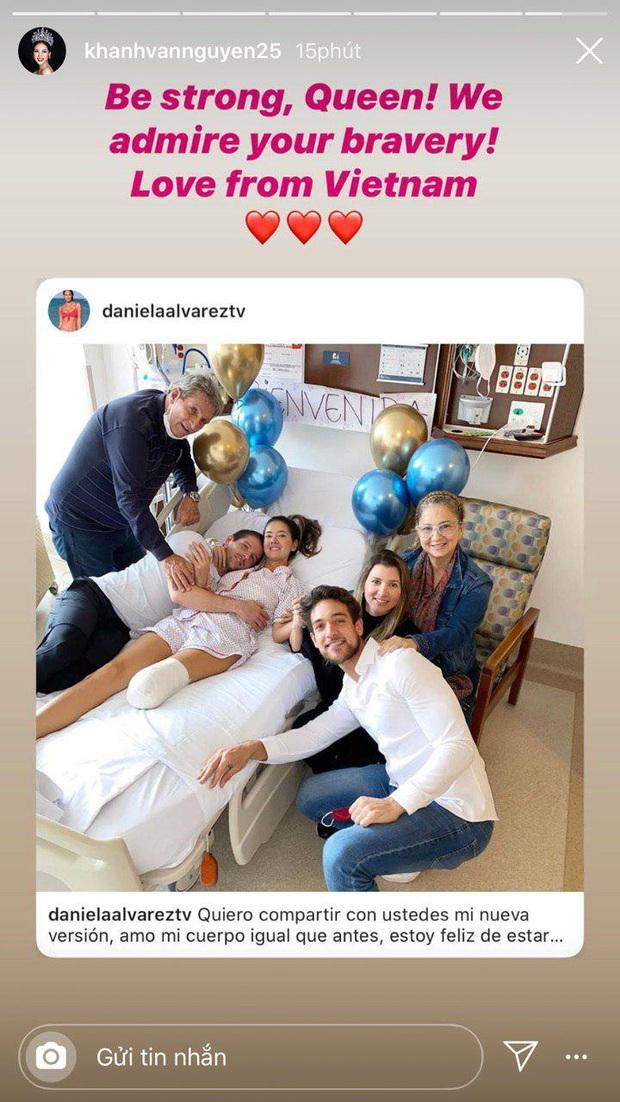Khánh Vân dành lời động viên cho Hoa hậu Colombia phải cưa chân do biến chứng phẫu thuật - Ảnh 4.