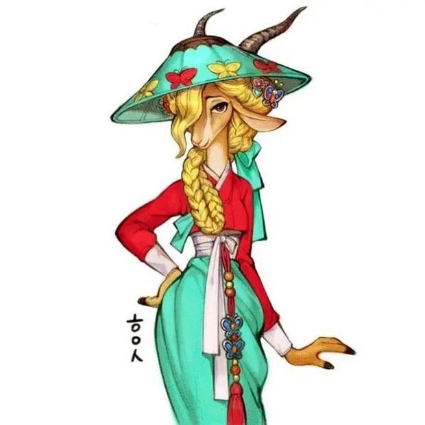 Loạt ảnh đẹp hết nấc khi các nhân vật trong phim Disney khoác lên mình những bộ trang phục truyền thống của Hàn Quốc - Ảnh 13.