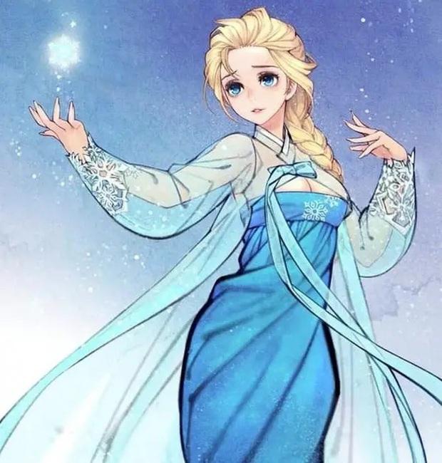 Loạt ảnh đẹp hết nấc khi các nhân vật trong phim Disney khoác lên mình những bộ trang phục truyền thống của Hàn Quốc - Ảnh 8.
