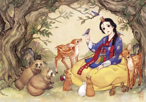 Loạt ảnh đẹp hết nấc khi các nhân vật trong phim Disney khoác lên mình những bộ trang phục truyền thống của Hàn Quốc - Ảnh 1.