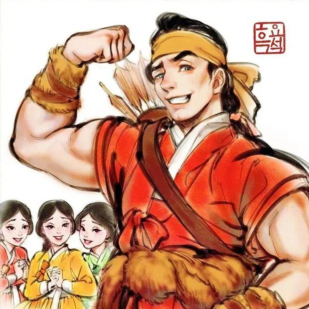 Loạt ảnh đẹp hết nấc khi các nhân vật trong phim Disney khoác lên mình những bộ trang phục truyền thống của Hàn Quốc - Ảnh 3.