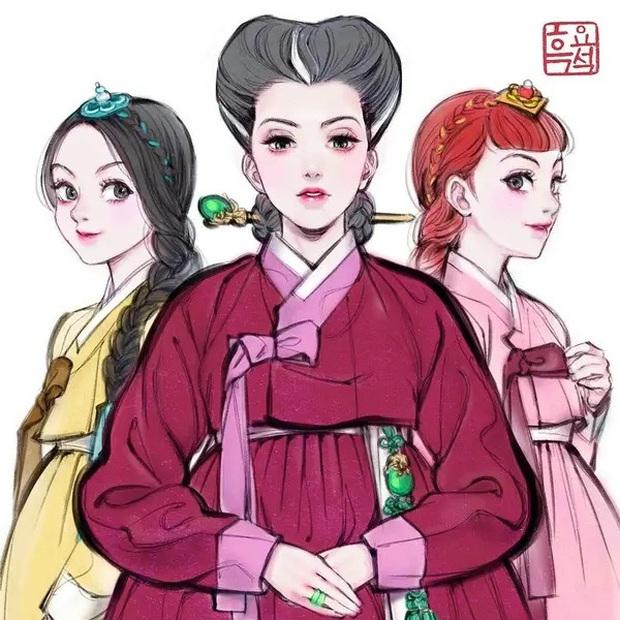 Loạt ảnh đẹp hết nấc khi các nhân vật trong phim Disney khoác lên mình những bộ trang phục truyền thống của Hàn Quốc - Ảnh 11.