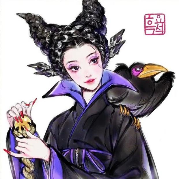Loạt ảnh đẹp hết nấc khi các nhân vật trong phim Disney khoác lên mình những bộ trang phục truyền thống của Hàn Quốc - Ảnh 10.