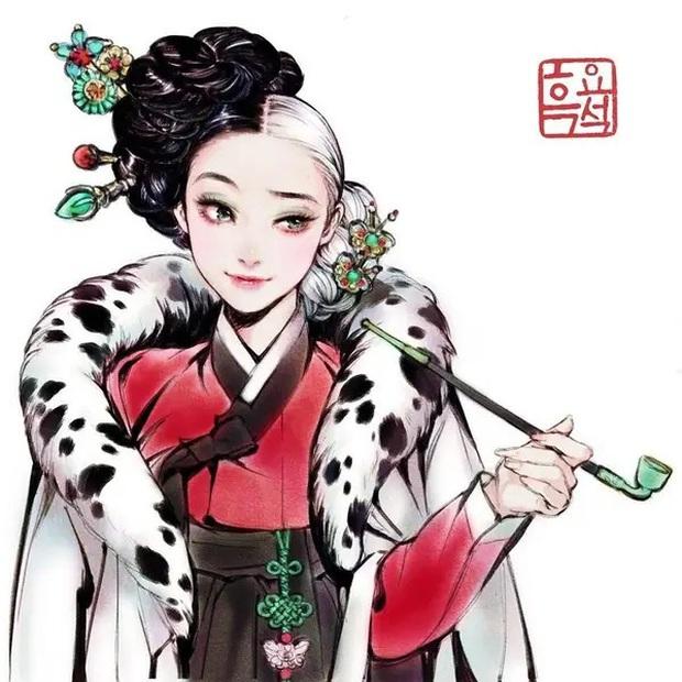 Loạt ảnh đẹp hết nấc khi các nhân vật trong phim Disney khoác lên mình những bộ trang phục truyền thống của Hàn Quốc - Ảnh 5.