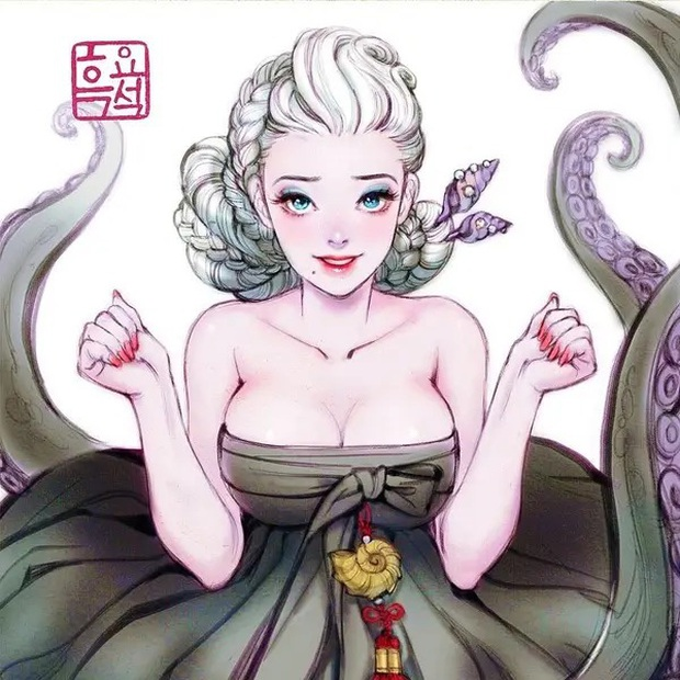 Loạt ảnh đẹp hết nấc khi các nhân vật trong phim Disney khoác lên mình những bộ trang phục truyền thống của Hàn Quốc - Ảnh 16.