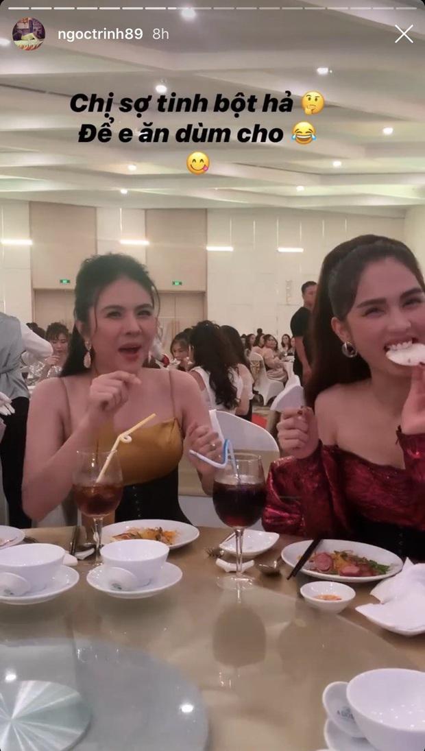 Ngọc Trinh không ngại ngần xin ăn Vân Trang: thì ra tình yêu với ăn uống của Trinh đã lớn đến mức này rồi! - Ảnh 3.
