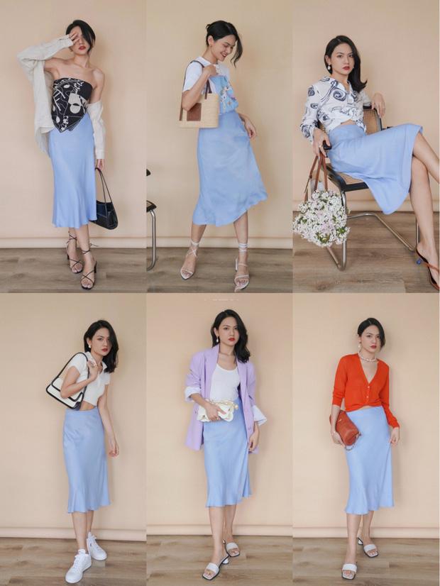 7 cách lên đồ với chân váy lụa, diện kiểu ăn chơi hay công sở sương sương đều đẹp - Ảnh 1.
