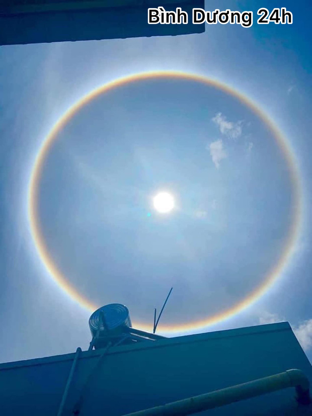 Người dân Sài Gòn, Vũng Tàu và nhiều tỉnh thành thích thú chụp lại hiện tượng quầng sáng bao quanh mặt trời - Ảnh 5.