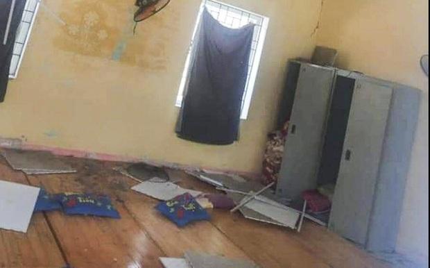 Động đất ở Lai Châu: Nhiều nhà dân hư hỏng, 4 trẻ bị thương do sập trần thạch cao trường học - Ảnh 1.