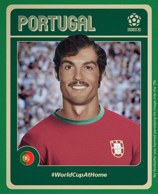 Choáng trước diện mạo của các sao bóng đá nếu ra đời sớm hơn 50 năm: Mái tóc cùng bộ râu của Ronaldo vô cùng lạ lẫm, Messi thì trông chất lừ - Ảnh 1.