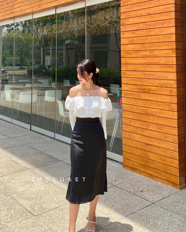 7 cách lên đồ với chân váy lụa, diện kiểu ăn chơi hay công sở sương sương đều đẹp - Ảnh 11.