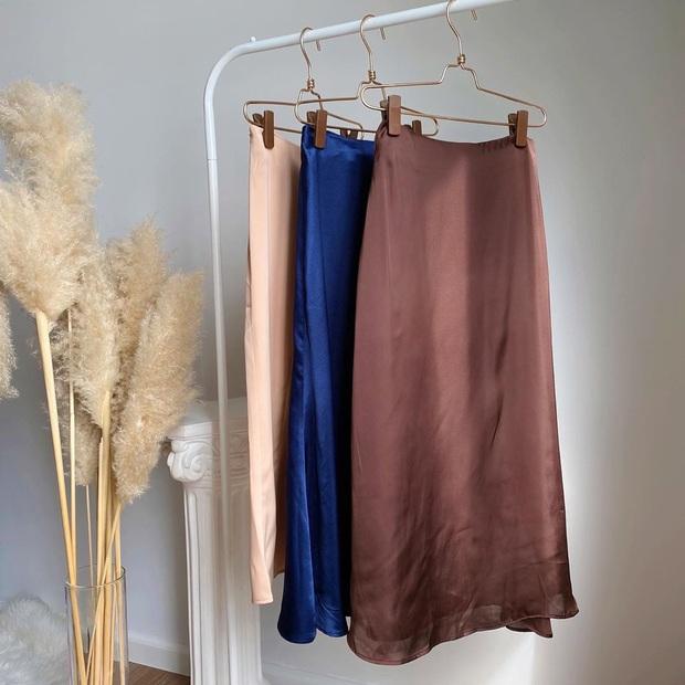 7 cách lên đồ với chân váy lụa, diện kiểu ăn chơi hay công sở sương sương đều đẹp - Ảnh 10.