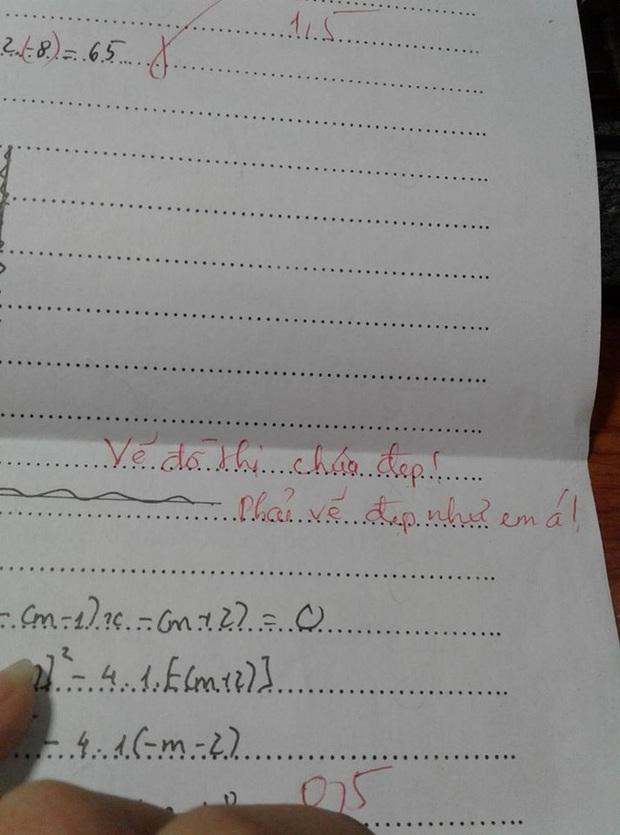 Học trò vẽ đồ thị không đẹp, cô giáo nghiêm túc phê bình nhưng không quên kèm câu nói khiến ai cũng sướng rơn - Ảnh 1.