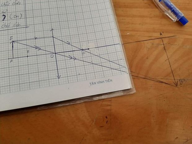 Bức ảnh khiến học sinh khóc thét giờ Vật lý: Vẽ thấu kính - Ảnh 2.