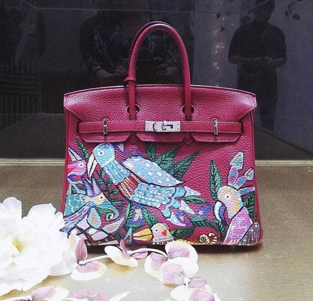 Không chỉ sưu tập túi hiệu, bạn thân Hà Tăng Heart Evangelista còn cho ra lò túi Hèrmes độc lạ do chính cô vẽ, tiền công hơn 40 triệu VNĐ  - Ảnh 4.