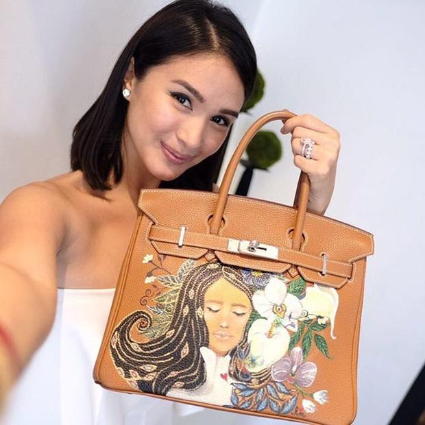 Không chỉ sưu tập túi hiệu, bạn thân Hà Tăng Heart Evangelista còn cho ra lò túi Hèrmes độc lạ do chính cô vẽ, tiền công hơn 40 triệu VNĐ  - Ảnh 6.