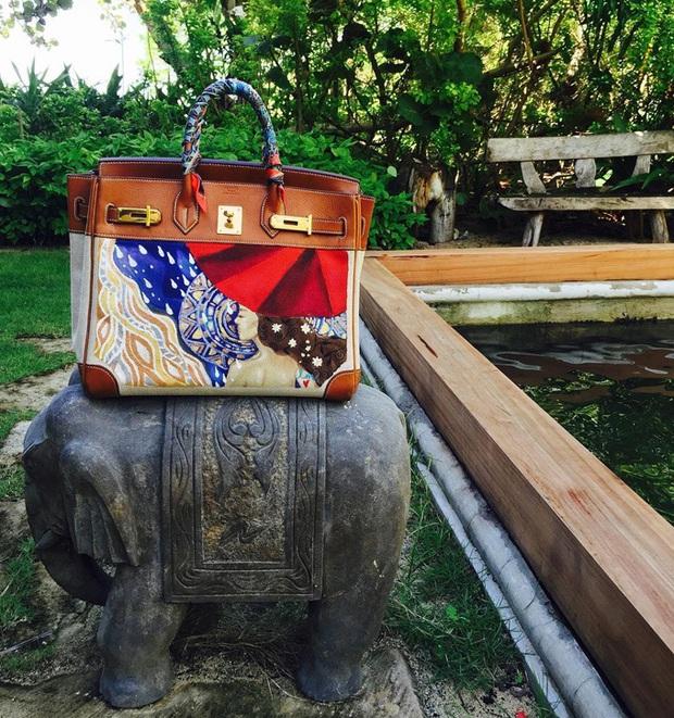 Không chỉ sưu tập túi hiệu, bạn thân Hà Tăng Heart Evangelista còn cho ra lò túi Hèrmes độc lạ do chính cô vẽ, tiền công hơn 40 triệu VNĐ  - Ảnh 7.
