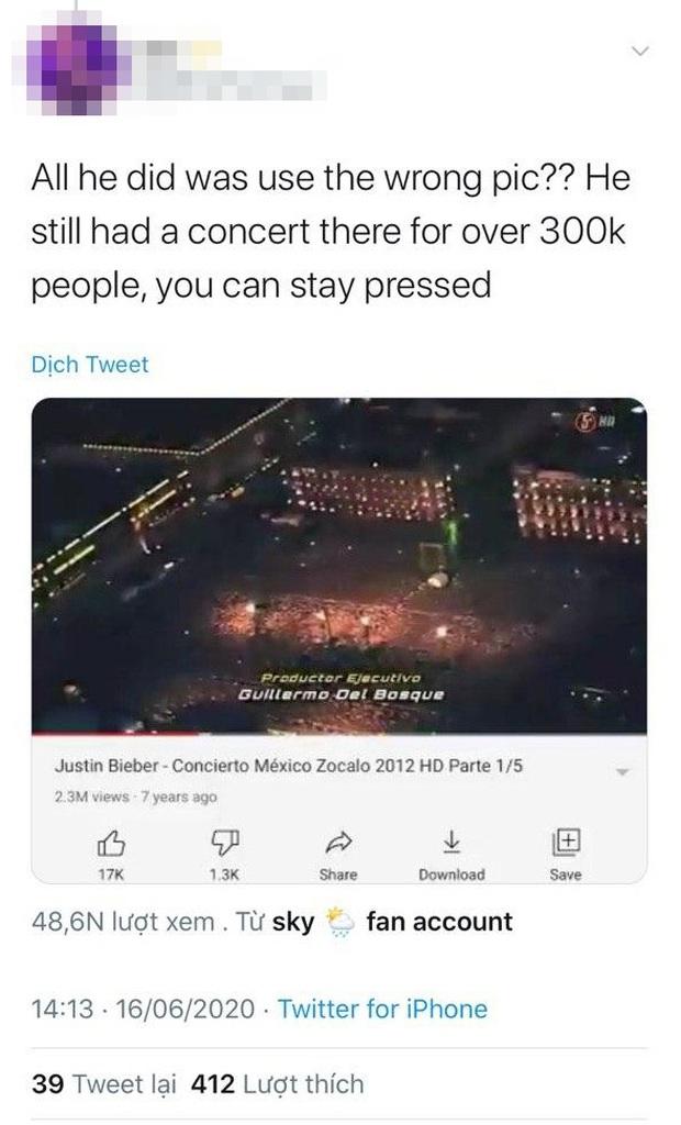 Justin Bieber nhận vơ ảnh đám đông khổng lồ trong concert huyền thoại Paul McCartney là của mình, bị bóc phốt nhưng vẫn không chịu xóa hình? - Ảnh 7.