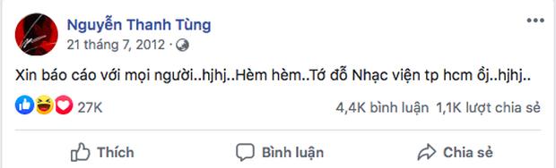 Dân mạng bất ngờ share rần rần 2 status của Sơn Tùng M-TP cách đây 8 năm! - Ảnh 1.