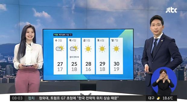 Sáng dậy bật TV, người dân Hàn ngỡ ngàng thấy nữ idol TWICE dẫn chương trình thời sự của đài truyền hình quyền lực JTBC - Ảnh 2.