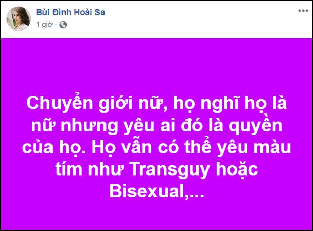 Hoài Sa chính thức lên tiếng trước nghi vấn cà khịa Trấn Thành về quan điểm chuyện tình yêu của chuyển giới nữ - Ảnh 2.