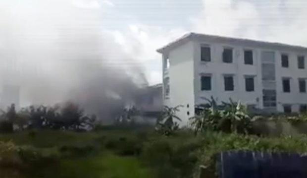 Hà Nội: Chập điện gây cháy trường mầm non - Ảnh 1.