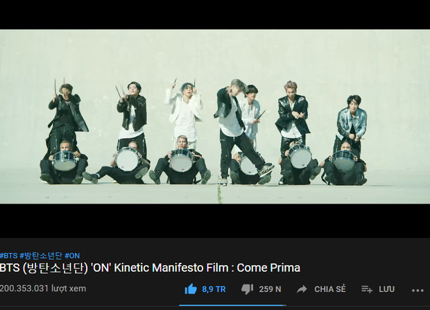 MV ON (BTS) đạt 200 triệu view mà thành tích giảm 10 lần so với kỉ lục của mình và thua MV 2017, sắp tới sẽ bị BLACKPINK cho hít khói dài dài? - Ảnh 1.