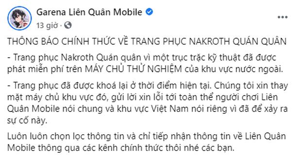 Liên Quân Mobile: Garena đính chính về việc tặng 250 skin Nakroth ADC nhưng game thủ Việt vẫn từ chối hiểu - Ảnh 1.