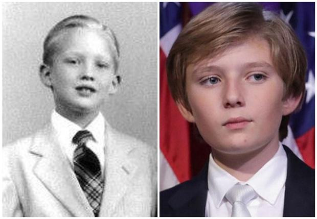 Minh chứng cho thấy hoàng tử Nhà Trắng Barron Trump giống cha như 2 giọt nước, thừa hưởng nhan sắc thời trẻ của Tổng thống Mỹ - Ảnh 2.