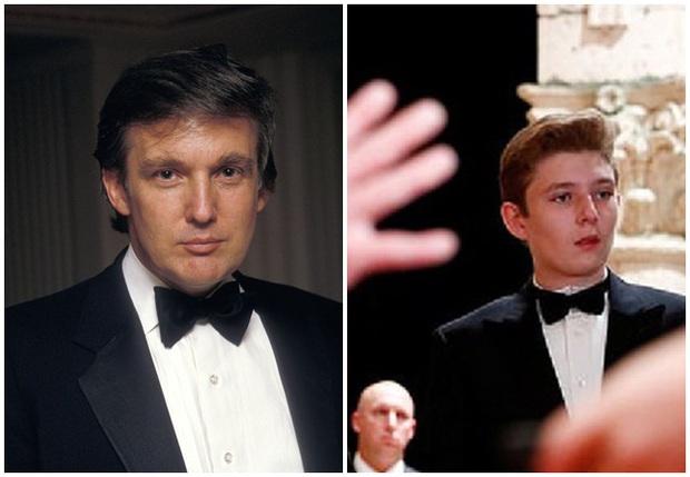 Minh chứng cho thấy hoàng tử Nhà Trắng Barron Trump giống cha như 2 giọt nước, thừa hưởng nhan sắc thời trẻ của Tổng thống Mỹ - Ảnh 4.