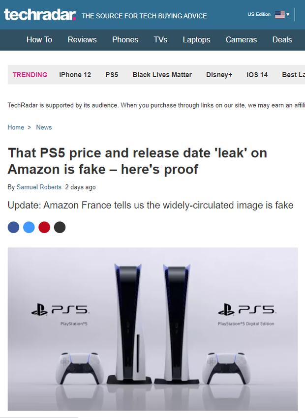 Amazon Pháp khiến Sony giận tím người khi rò rỉ giá bán Playstation 5 - Ảnh 3.