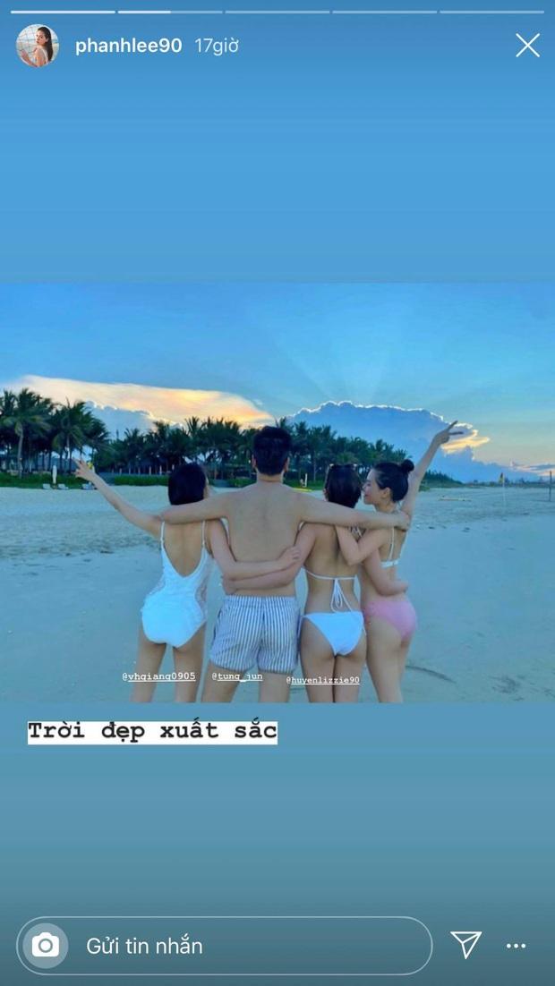 Sẵn dịp ăn cưới Phanh Lee và chồng đại gia ở resort hạng sang, hội khách mời thi nhau sáng tác bộ ảnh bikini đăng phây - Ảnh 1.