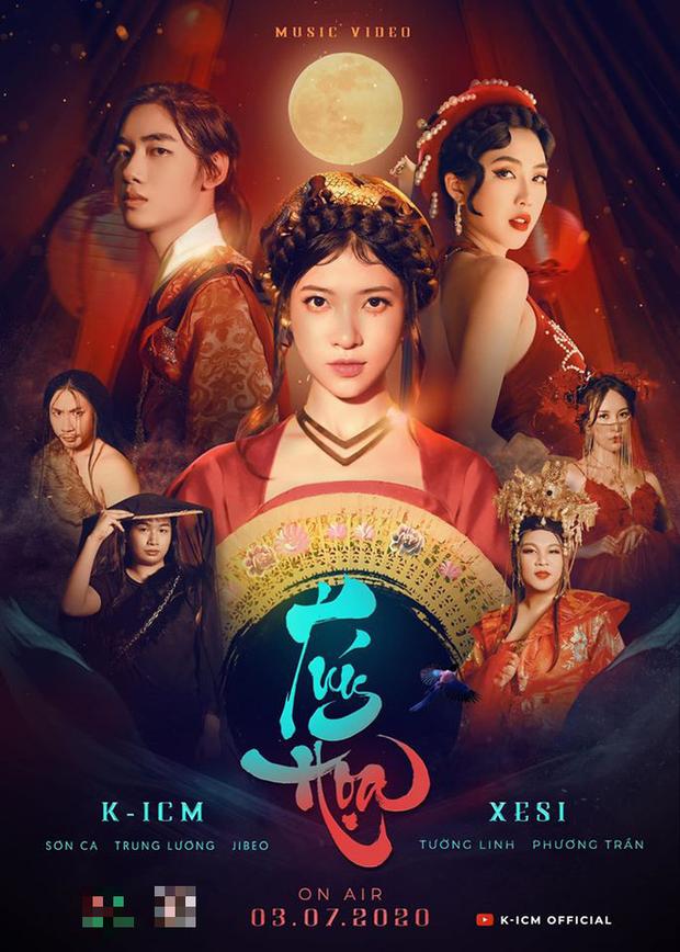 Chưa đầy 1 tháng comeback, K-ICM tiếp tục tung poster hé lộ sản phẩm lần đầu kết hợp với Xesi, Hoa hậu Tường Linh, sẽ là phần 2 của Túy Âm? - Ảnh 1.