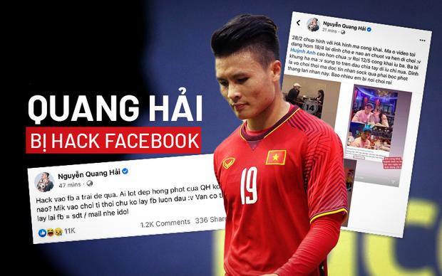 Quang Hải bị hack Facebook, lộ đoạn tin nhắn nhạy cảm về chuyện yêu đương - Ảnh 1.