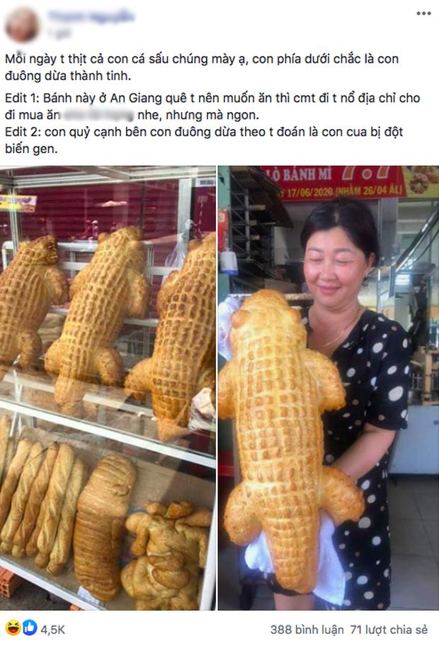Xuất hiện bánh mì cá sấu đang được dân mạng share ầm ầm: Đúng là Việt Nam cái gì cũng nghĩ ra được! - Ảnh 1.