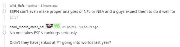 Cộng đồng chỉ trích BXH của ESPN - T1 được đánh giá quá cao, họ không xứng vị trí top 2 thế giới - Ảnh 5.