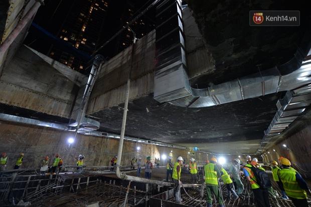 Hợp long khu vực trung chuyển ga ngầm S9 dự án đường sắt đô thị Nhổn - ga Hà Nội - Ảnh 4.