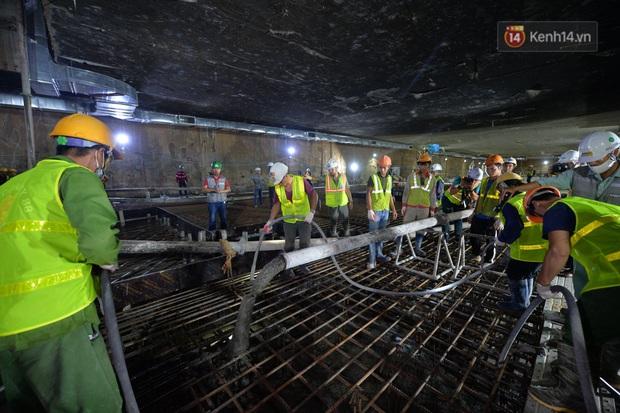 Hợp long khu vực trung chuyển ga ngầm S9 dự án đường sắt đô thị Nhổn - ga Hà Nội - Ảnh 7.