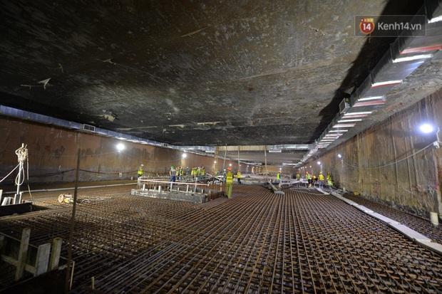 Hợp long khu vực trung chuyển ga ngầm S9 dự án đường sắt đô thị Nhổn - ga Hà Nội - Ảnh 1.