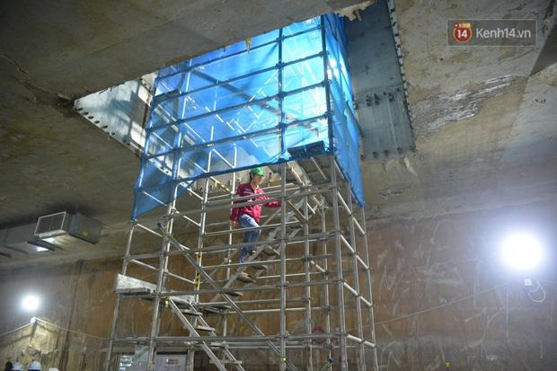 Hợp long khu vực trung chuyển ga ngầm S9 dự án đường sắt đô thị Nhổn - ga Hà Nội - Ảnh 2.