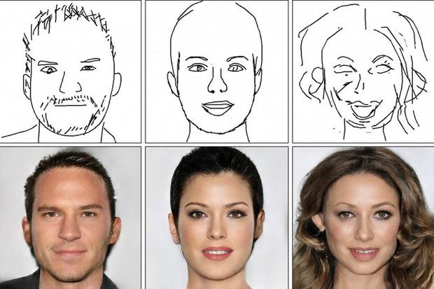 Công nghệ AI của Trung Quốc hô biến tranh phác họa nguệch ngoạc thành thành ảnh chân dung sống động đến không ngờ - Ảnh 1.