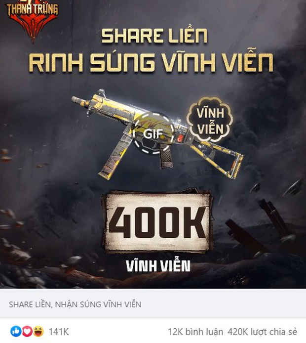 Free Fire: Game thủ Việt nhận miễn phí súng xịn UMP Thảm Họa nhờ khả năng like, share điên đảo! - Ảnh 1.