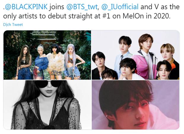 Mới comeback vài tiếng, BLACKPINK đã vượt TWICE, sánh ngang BTS và IU ở Hàn; lập kỷ lục tại Trung, No.1 iTunes Việt và vượt Katy Perry lọt top 3 thế giới! - Ảnh 3.