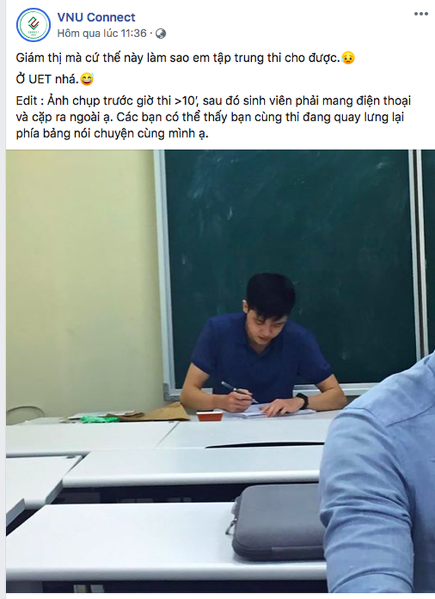 Bức ảnh chụp lén thầy giám thị khiến dân tình xuýt xoa: Đời sinh viên phải may mắn lắm mới gặp được cực phẩm thế này! - Ảnh 1.
