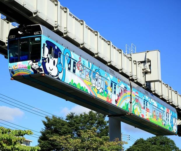 """Không hổ danh """"đất nước ngoài hành tinh"""" trong mắt du khách, Nhật Bản chính là nơi sở hữu đoàn tàu treo ngược dài nhất thế giới hiện nay - Ảnh 4."""