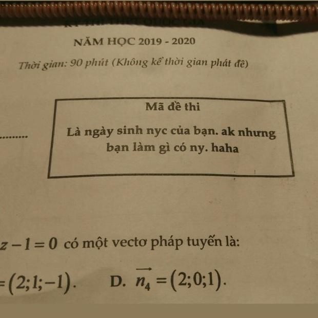 Giáo viên đặt mã đề đậm mùi cà khịa, học sinh đọc vào là tức anh ách - Ảnh 1.