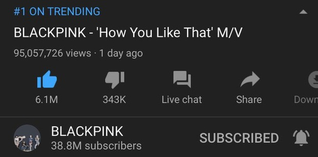 BLACKPINK vừa lập kỉ lục view thế giới với How You Like That thì lập tức bị YouTube trừ view thẳng tay, may là con số này không nhiều như BTS - Ảnh 2.