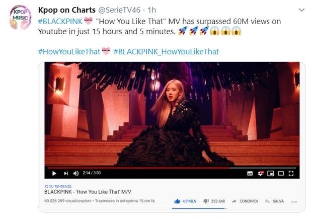 """BLACKPINK chỉ mất 11 tiếng để """"vượt chỉ tiêu"""" view MV 24 giờ, cho thành tích comeback của BTS ngửi khói lại xô đổ luôn kỉ lục iTunes của girlgroup - Ảnh 4."""