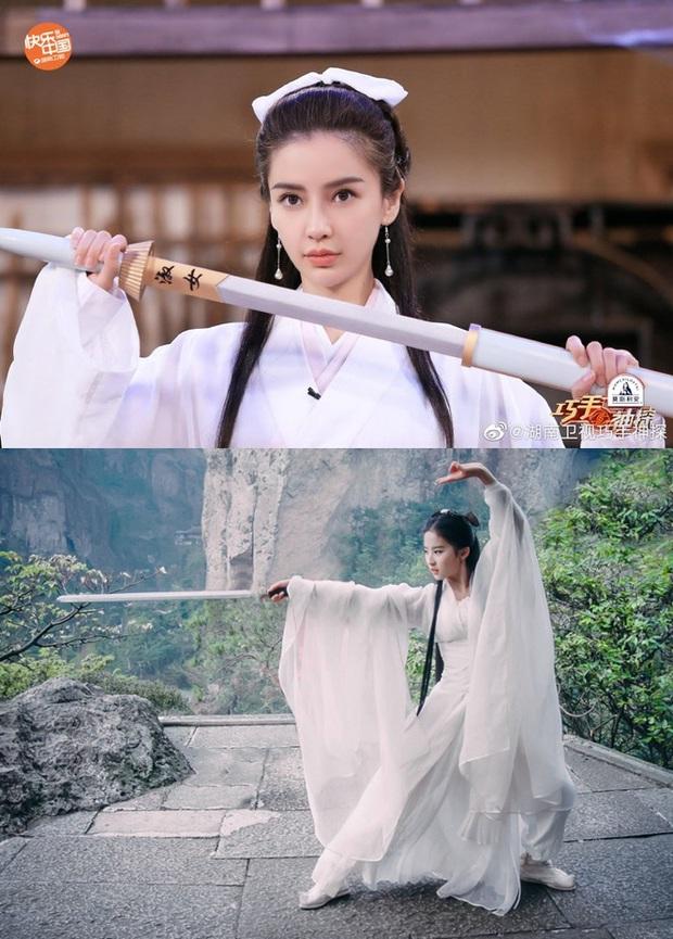 Bất ngờ cosplay Tiểu Long Nữ, Angela Baby bị so sánh với Lưu Diệc Phi nhưng động thái của Vu Chính mới đáng bàn - Ảnh 7.