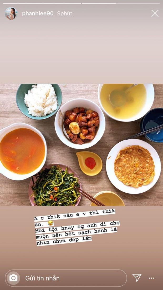 Phanh Lee tiết lộ bữa cơm giản dị với chồng đại gia, quan trọng là anh chồng nấu hết cơ - Ảnh 3.